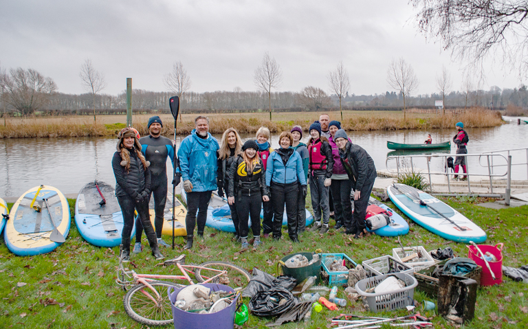 Bonkers Activities Paddle Boarding Club with the results of their first clear up
